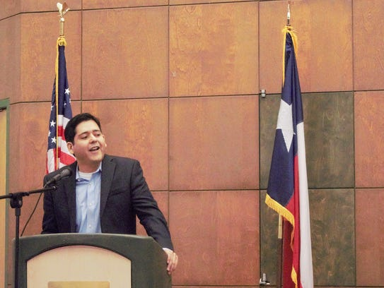Adrian Ocegueda during the Governor Candidate Forum
