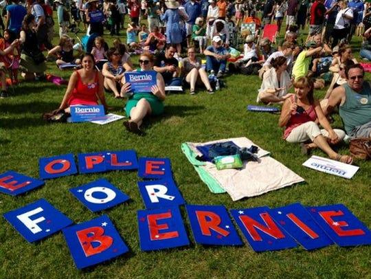 Supporters of Sen. Bernie Sanders' bid for president