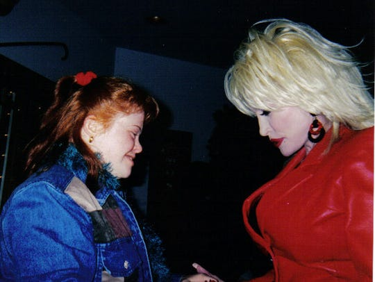 Patricia with Dolly Parton,
