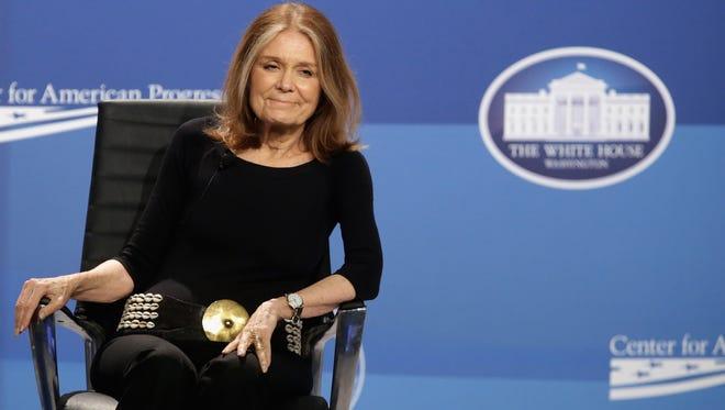 American feminist, journalist and political activist Gloria Steinem.