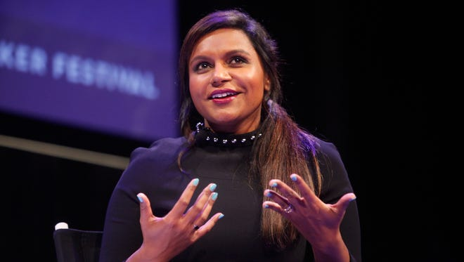 Mindy Kaling participates in a conversation with New Yorker television critic Emily Nussbaum during the New Yorker Festival on October 11, 2014 in New York City.
