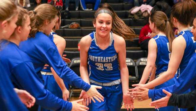 Hamilton Southeastern freshman Sydney Parrish leads the Royals in scoring and rebounding.