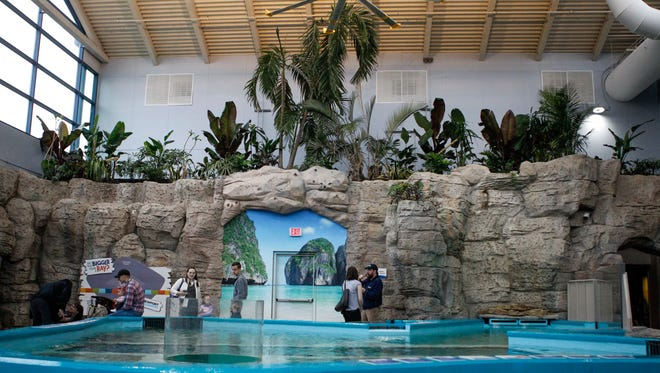 Stingray Hideaway at the Newport Aquarium features a 17,000-gallon touchpool Thursday, May 4, 2017. The new exhibit will open Friday, May 5, 2017.
