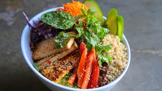 The Tasty Thai Tofu bowl at Chef Tanya's Kitchen in Palm Springs.