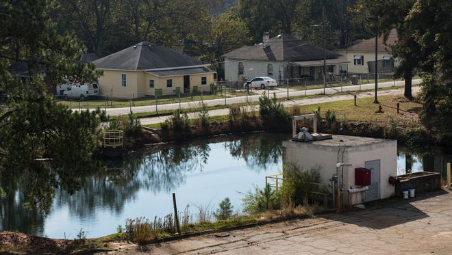 Homes in the Judson community are visible from the Judson Mill property on Wednesday, Nov. 15, 2017.
