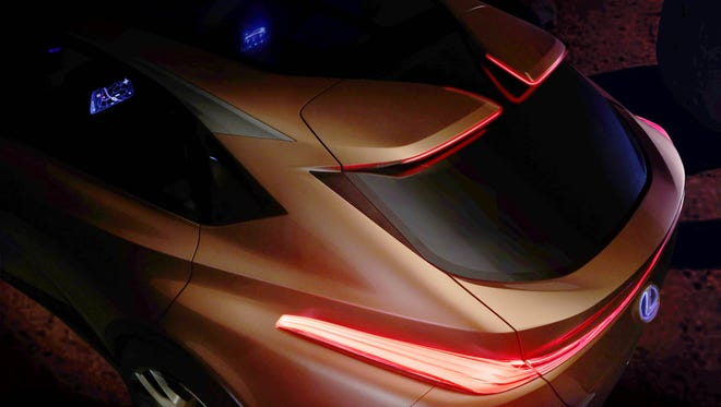This image provides a hint of the Lexus LF-1 Limitless, a concept large luxury crossover that will be unveiled Monday at 8:35 a.m. at the North American International Auto Show.
