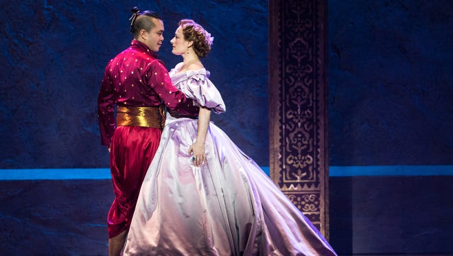 "Jose Llana and Laura Michell Kelly in Rodgers & Hammerstein's ""The King and I."""