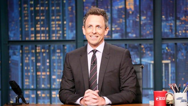 """Late Night"" host Seth Meyers."