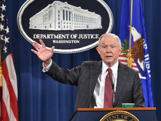 U.S. Attorney General Jeff Sessions answers questions