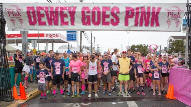 Dewey Goes Pink 5K steps off Saturday at 11 a.m.