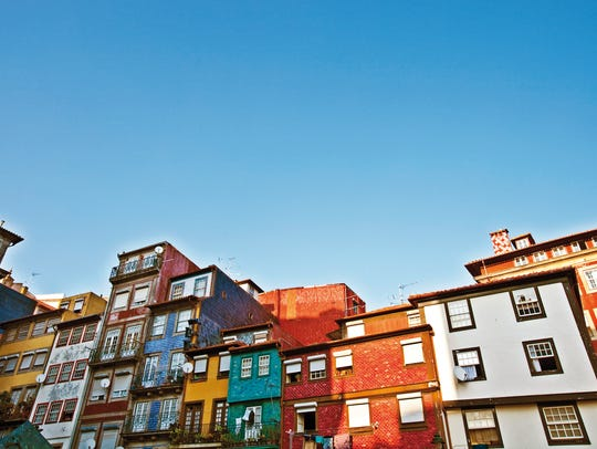 Colorful buildings in the Portuguese town of Porto.