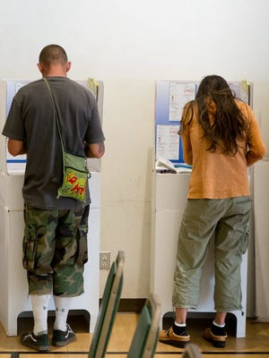 Californians voting in the presidential primary election at a polling place in Pacific Beach, in June 2016.