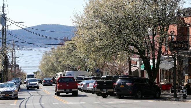 Main Street in Irvington. Property values in the Irvington school district will increase by more than 18 percent as a result of Greenburgh's townwide reassessment.