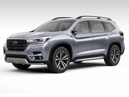 subaru rolls out its ascent full size suv. Black Bedroom Furniture Sets. Home Design Ideas