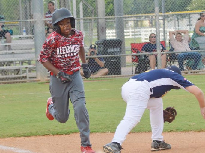 The Alexandria Little League 11-year-old team played an elimination game against Lafayette Tuesday, July 22, 2014 at the state tournament held at Johnny Downs Sports Complex.