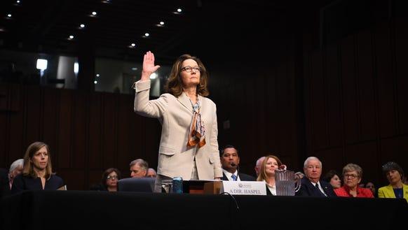 Gina Haspel at the Senate Intelligence Committee hearing