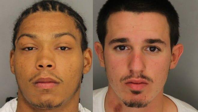 Rainier Hamilton, left, Tyson Oliveira, right.