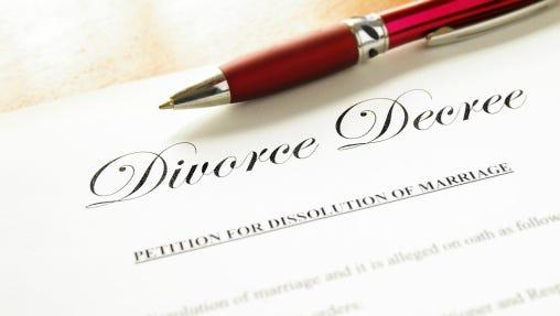 Divorce decree.