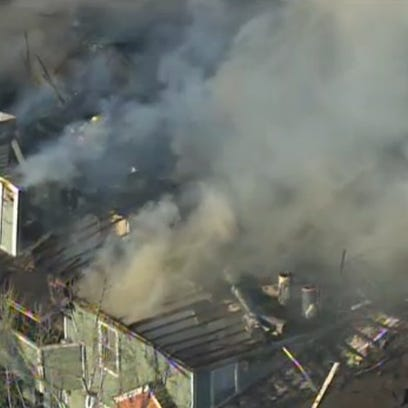 A 2-alarm apartment fire broke out at the Hastings
