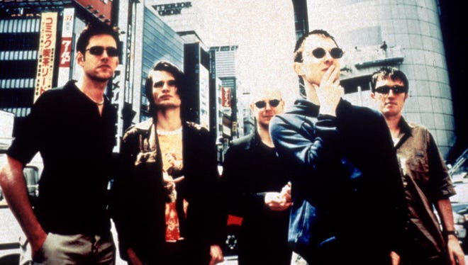 Radiohead, back in the day: Ed O'Brien, left, Jonny Greenwood, Phil Selway, Thom Yorke, Colin Greenwood in 1997.