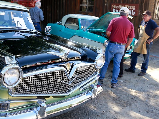 Curtis and Sybil Brown brought their 1957 Hudson Hornet to show on Founders Day on Saturday at the Aztec Museum & Pioneer Village.