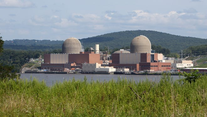 The Indian Point nuclear power plant in Buchanan, as seen from across the Hudson River in Tomkins Cove Aug. 27, 2013. . ( Peter Carr / The Journal News )