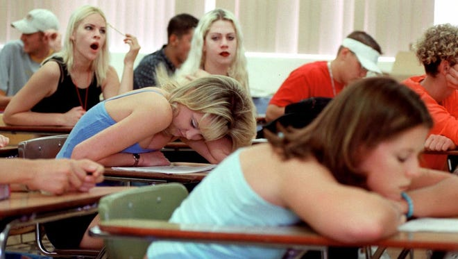 Summer school students in an early morning class at Amphi High School in Tucson, Ariz., June 22, 2000.