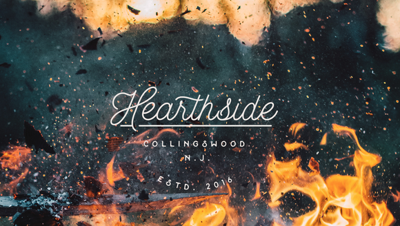The logo for Hearthside, which is now open on Haddon