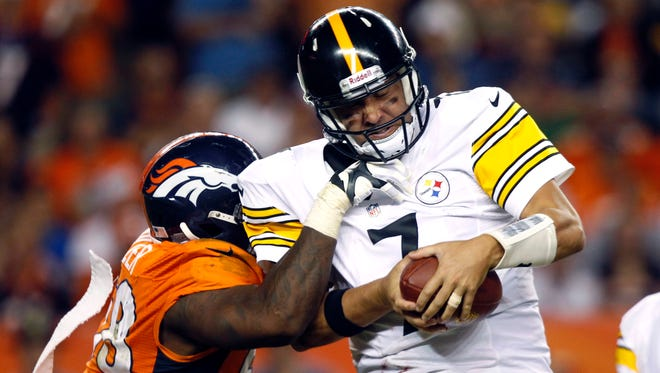 Steelers QB Ben Roethlisberger (7) and Broncos OLB Von Miller are off to hot starts.