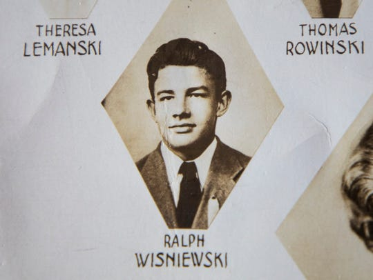 A photo of Ralph Wisniewski in his graduating class