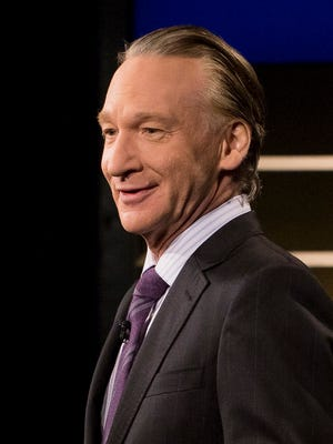 """This June 2, 2017 photo released by HBO shows Bill Maher, host of """"Real Time with Bill Maher,"""" in Los Angeles. HBO says academic Michael Eric Dyson will be filling this week's guest slot after Sen. Al Franken bowed out of """"Real Time with Bill Maher"""" in the wake of Maher's use of a racial slur last week. Maher was roundly criticized for using the N-word in a joking reference to himself as a house slave. Although he later apologized, Franken called his remark """"inappropriate and offensive."""""""
