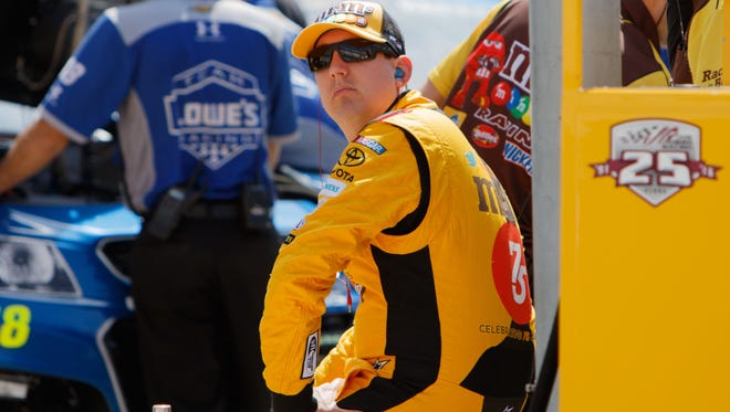 Kyle Busch called teammate Carl Edwards' last-lap bump at Richmond a typical racing move.