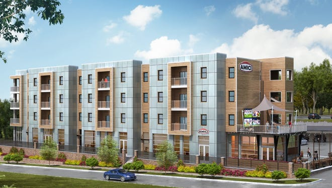 An artist's rendering of the Plaza One89 development in Clemson.