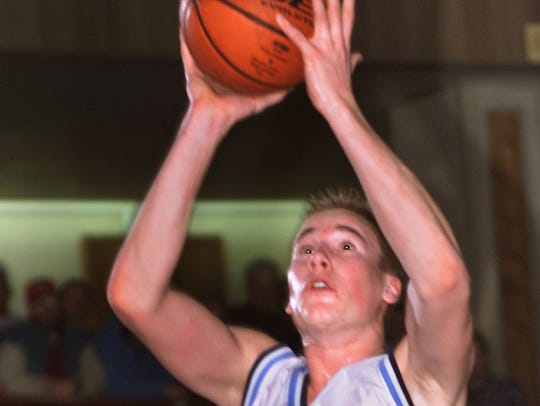 CBA's Jason Krayl goes up with shot during second half