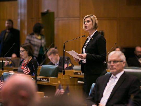 Representative Jennifer Williamson, D-Portland, during