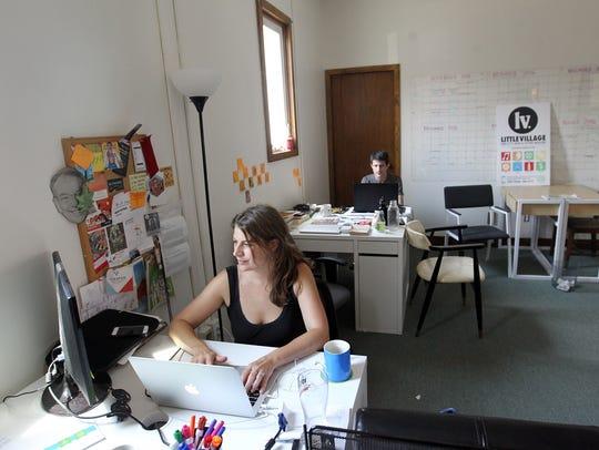 Little Village Art Director Jordan Sellergren and Digital