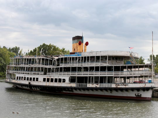 The SS Ste. Claire, commonly known as one of the Boblo boats, on Thursday, September 1, 2016 in Detroit.