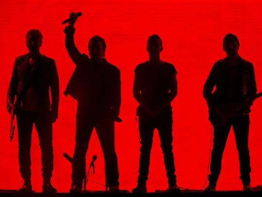 U2 performs songs off their 1987 album Joshua Tree,