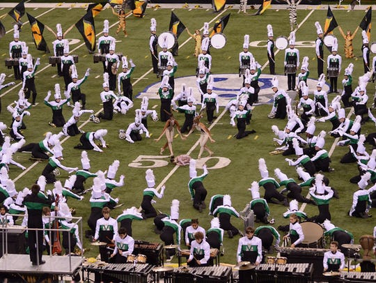 In 2012, the William Mason High School Marching Band