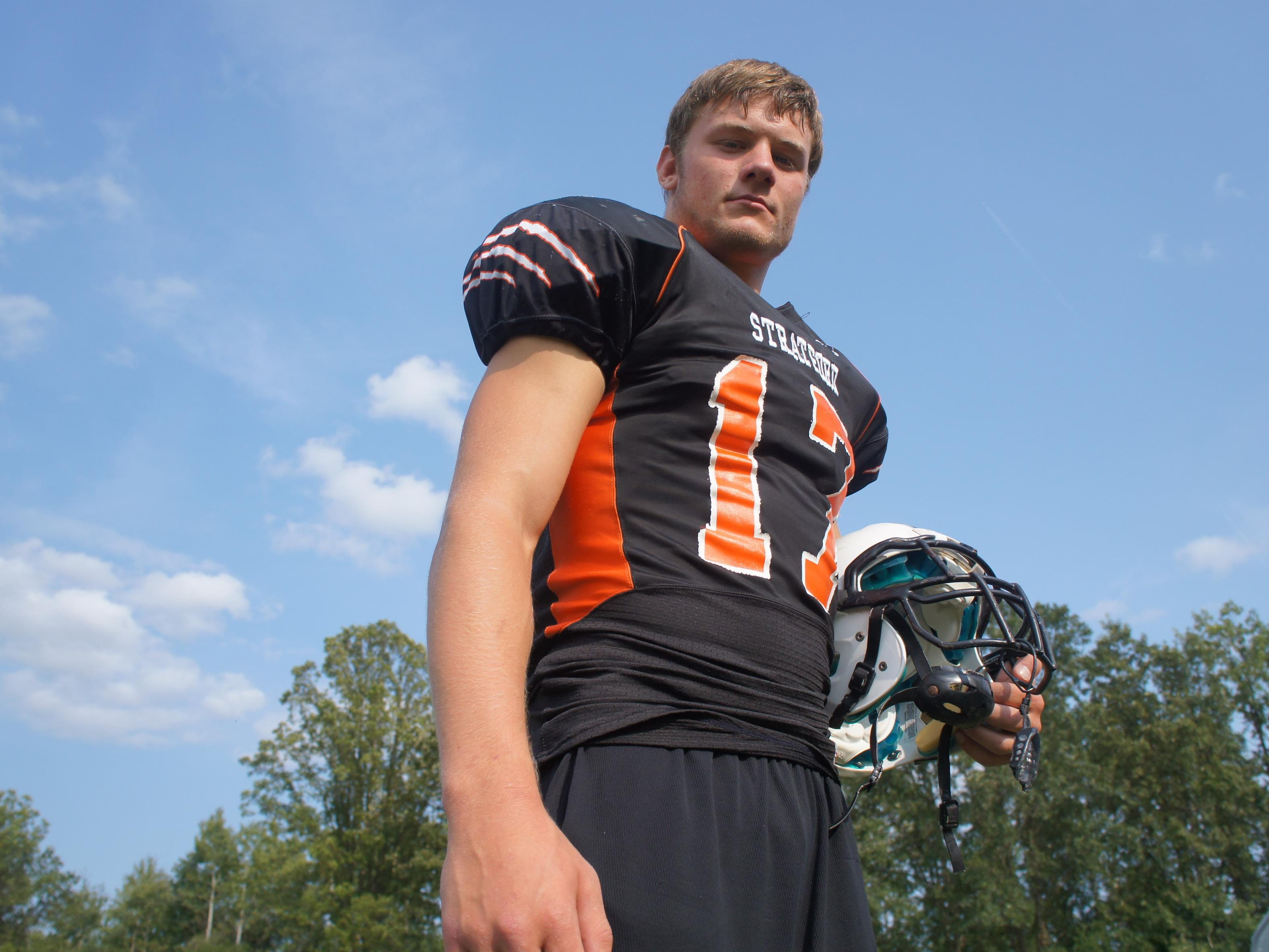 Stratford senior Taylor Krall is a three-sport student-athlete for the Tigers and a key to the football team's 2-0 start.