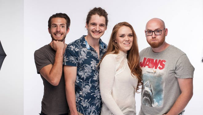 """Actors Justin Wanner (center) and Hannah Alice Patterson star in """"You Are Another,"""" a film collaboration by Joseph St. Peter Left and Carson Hughes (right)."""