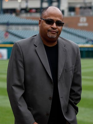 Drew Sharp, photographed at Comerica Park in downtown Detroit on May 19, 2015.