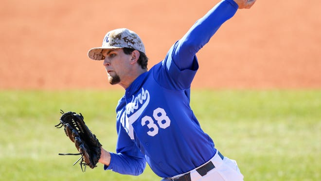 MTSU's Tyler Troutt (38) only allowed two hits during Saturday's 1-0 loss to Rice.