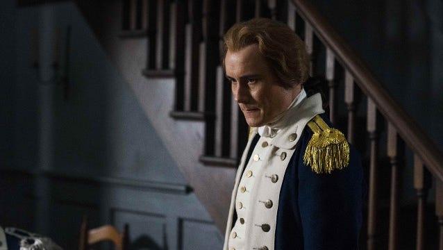 """My face when I think of Aaron Burr,"" jokes Sean Haggerty, who plays Alexander Hamilton on 'Turn.'"