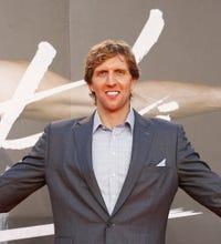 """Dirk attends """"Nowitzki: Der Perfekte Wurf"""" movie premier in Germany"""