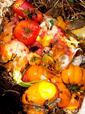 Composting turns food scraps into fertilizer so they don't rot in a landfill and produce methane, a greenhouse gas that's 23 times more potent than carbon dioxide.