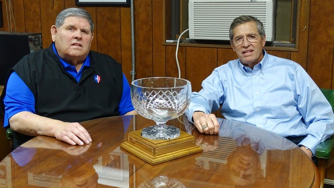 Charlie, left, and Bill Stewart are the recipients of the 2017 Dick Johnson Civic Leadership Award, which honors Muskingum County residents with achievements in business, community leadership and philanthropy. Charlie and Bill serve as CEO and president, respectively, of Stewart Glapat in Zanesville.