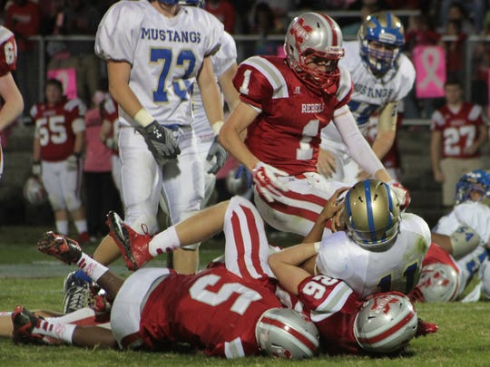 Noah Lowrance (1) has helped the Rebels advance to Friday's Class 2A state quarterfinal against Trenton Peabody.