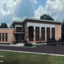 This is a rendering of a  Community Learning Center project that the Linebaugh Library Board proposes to build by early 2017 on the Hobgood Elementary School campus in east Murfreesboro.