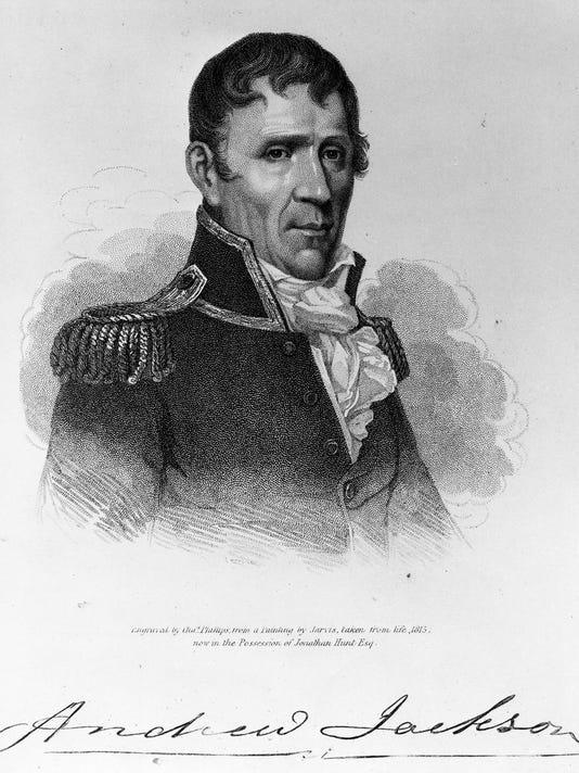 Andrew Jackson portrait art